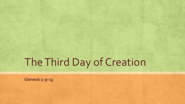 The Third Day of CreationGenesis 1:9-13