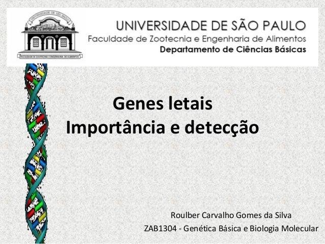 Genes letaisImportância e detecção              Roulber Carvalho Gomes da Silva        ZAB1304 - Genética Básica e Biologi...