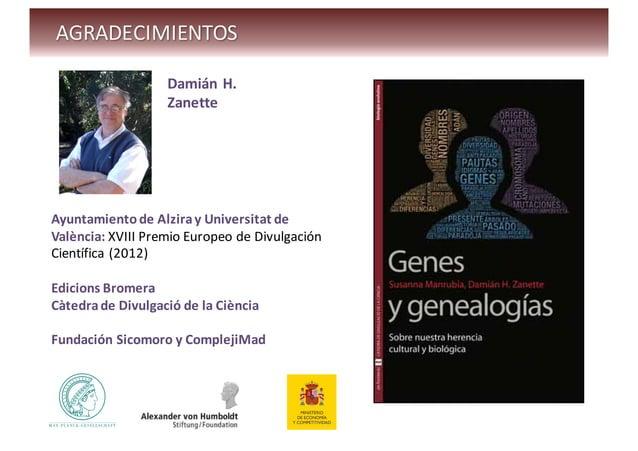 Genes y genealogias   susanna manrubia - curso introduccion a los sistemas complejos