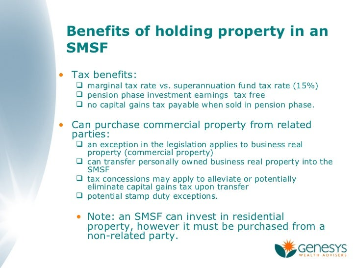 Transfer Of Residential Property Into Super Fund