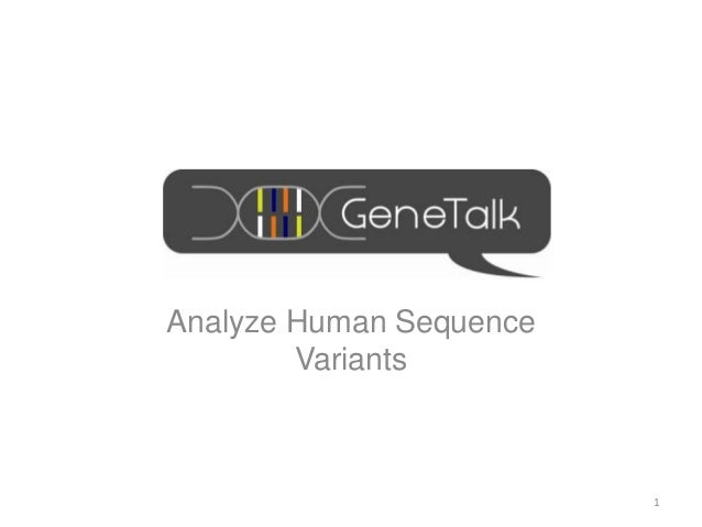 Analyze Human SequenceVariants1