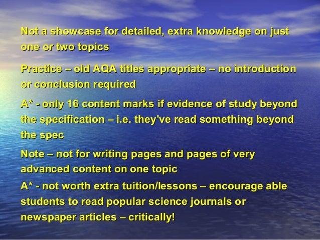 biology a level synoptic essay