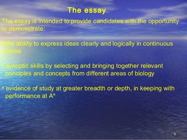 Aqa biology synoptic essay