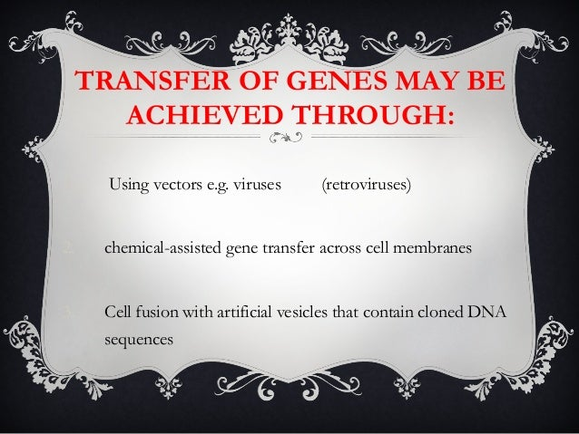 concepts of gene therapy Gene therapy is the process of replacing defective genes in a cell with healthy ones in simple terms, genes form the basis of heredity they come as triplets of nitrogenous basis which form.