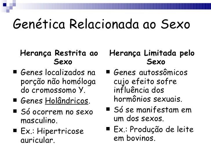 Genética Relacionada ao Sexo <ul><li>Herança Restrita ao Sexo </li></ul><ul><li>Genes localizados na porção não homóloga d...