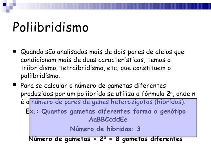 Poliibridismo <ul><li>Quando são analisados mais de dois pares de alelos que condicionam mais de duas características, tem...