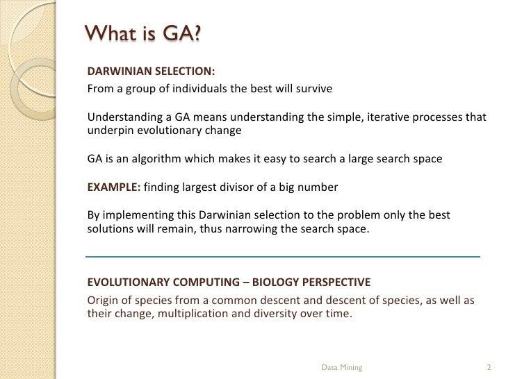 Genetic Algorithms Slide 2