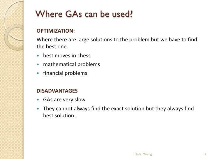 Genetic Algorithms Slide 3