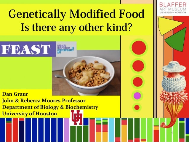 Genetically Modified Food Is there any other kind? Dan Graur John & Rebecca Moores Professor Department of Biology & Bioch...