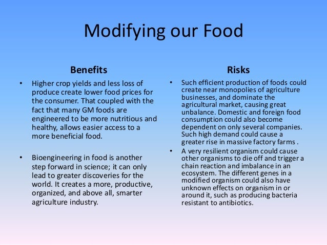 the principles of the genetically modified organism in the food industry Genetically modified foods are not safe to eat which gmo [genetically modified organism] the safety of genetically modified food is based only on a.