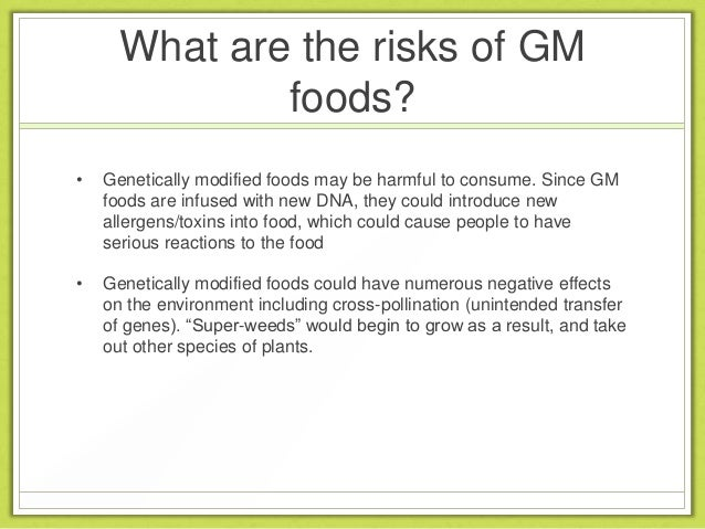 Genetically Modified Food And Human Health Risks