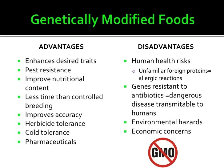 Genetically Modified Food And Our Health