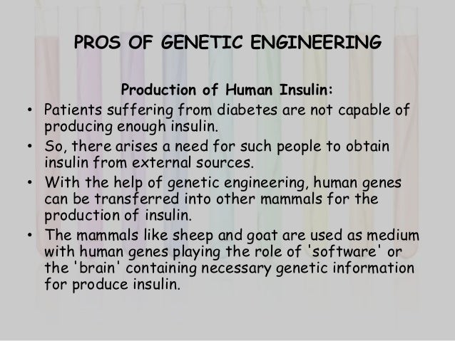 an argument in favor of genetic engineering research Genetic engineering: the unnatural argument anne chapman institute for environment, philosophy and public policy lancaster university introduction the though this understanding may be enhanced by insights from scientific research.