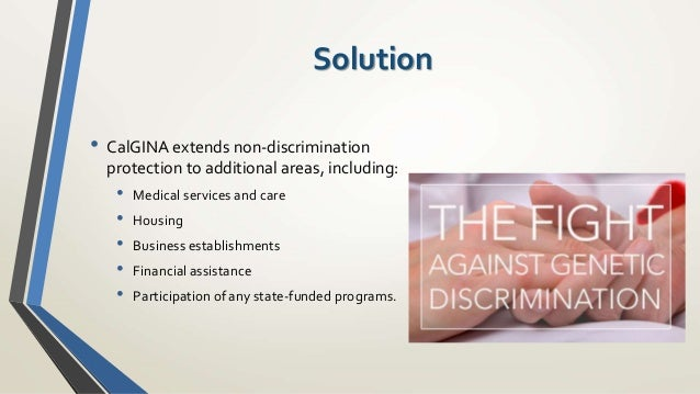 preventing genetic discrimination health insurance companies essay Genetic privacy laws exists to prevent the abuse of genetic information it is understood that these laws were created specifically to prohibit health insurance companies, employers and housing agencies from using genetic data to discriminate against citizens genetic discrimination can be described as the unfair treatment.