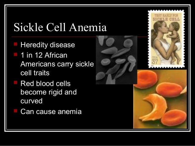 the characteristics and risk factors of sickle cell anemia Sickle cell anemia is an inherited blood disorder characterized by defective hemoglobin (a protein in red blood cells that carries oxygen to the tissues of the body) sickle cell anemia inhibits the ability of hemoglobin in red blood cells to carry oxygen cells containing normal hemoglobin are smooth, disk-shaped, and flexible, like doughnuts.