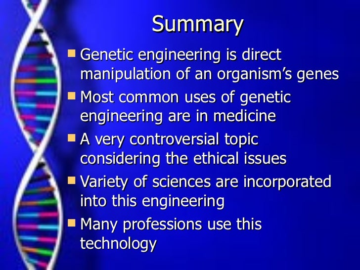 An Overview of Genetic Engineering