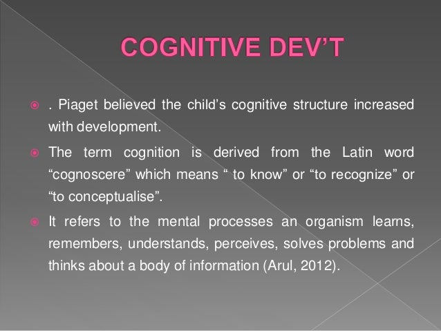  Piaget gave four stages of cognitive development.  sensorimotor (birth to age 2),  preoperational (2 to 7 years),  co...