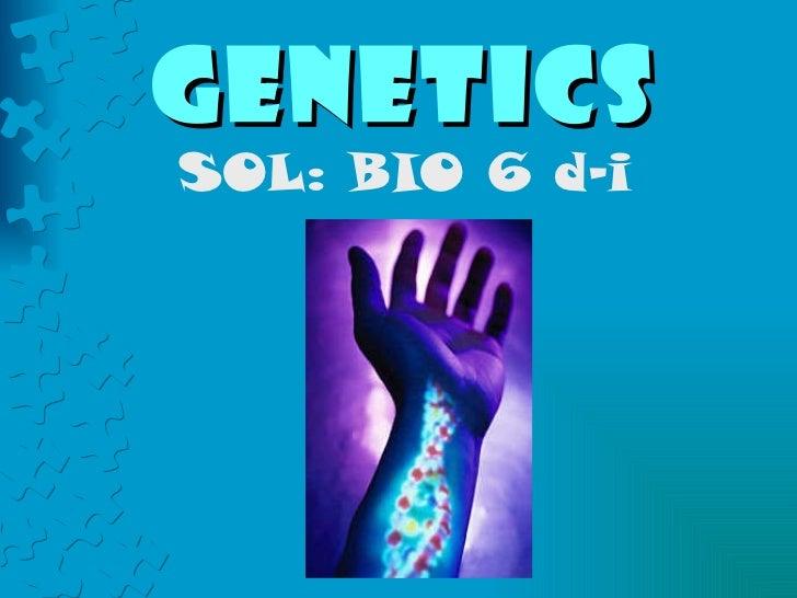 Genetics SOL: BIO 6 d-i