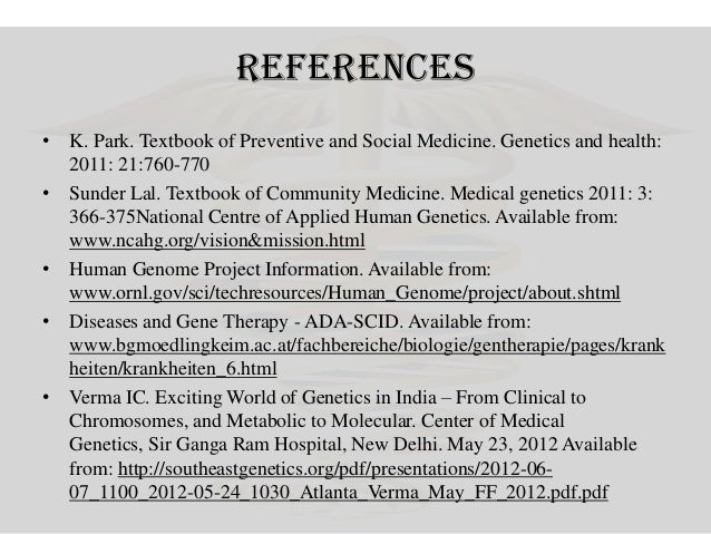 Genetics and health 69 references k park textbook of preventive and social medicine fandeluxe Image collections