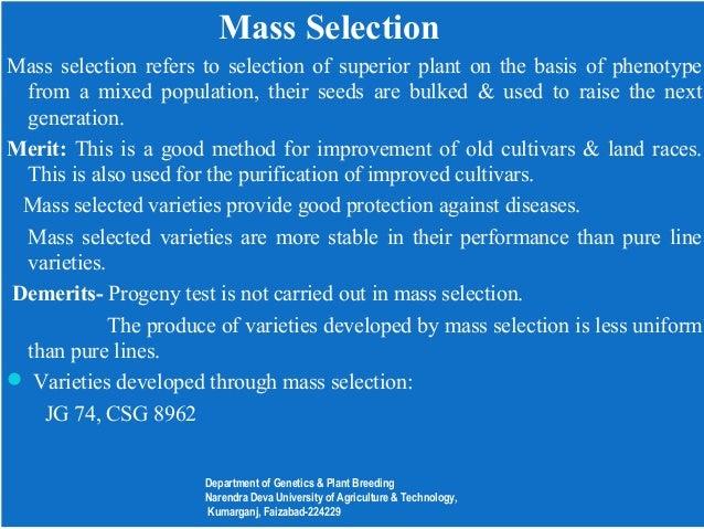 Genetics and plant breeding seminar.