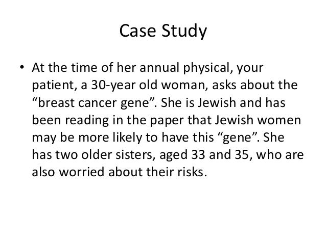 Genetic counseling case studies