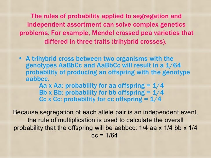 Mendels two laws explain inheritance in terms of  discrete factors (genes) which as passed fromgeneration to generation ac...