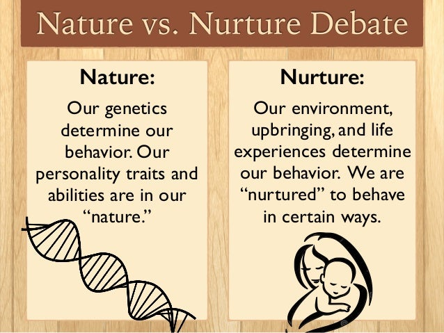 nature vs nuture Nature vs nurture: which causes crime a combination of both biological and social factors combined mold people into who they are and determines the mindset of one.