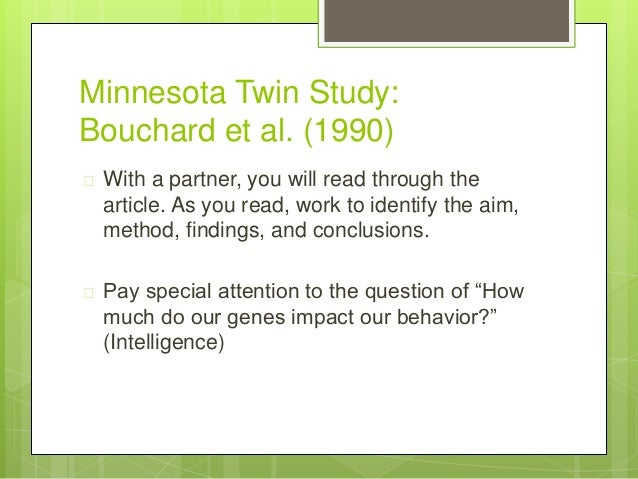 minnesota twin study bouchard