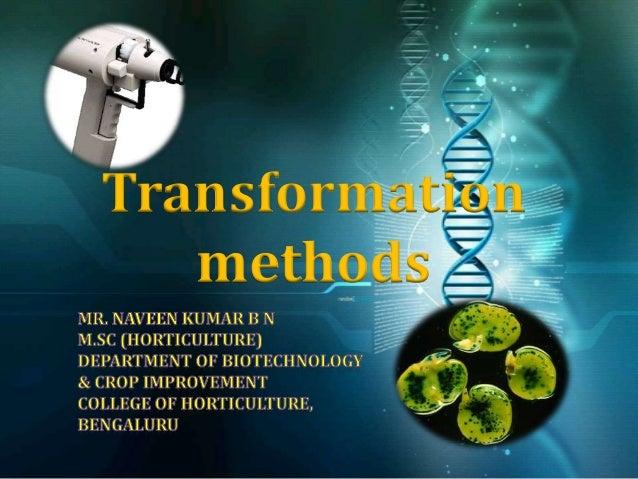 Transformation methods