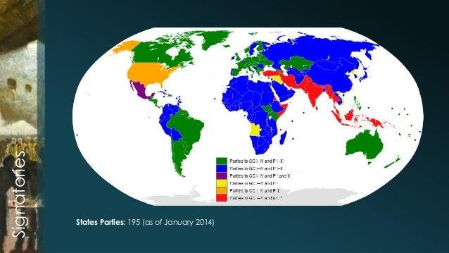 Third Geneva Convention - Geneva convention map