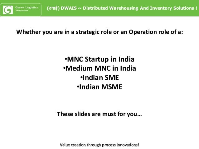 Value creation through process innovations! Whether you are in a strategic role or an Operation role of a: •MNC Startup in...