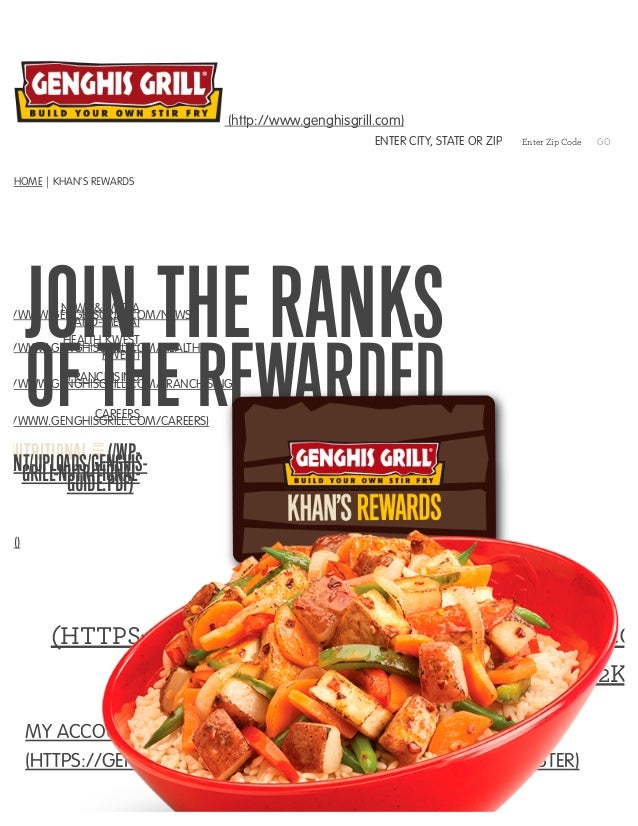 Genghis Grill S Loyalty Program Khan S Rewards