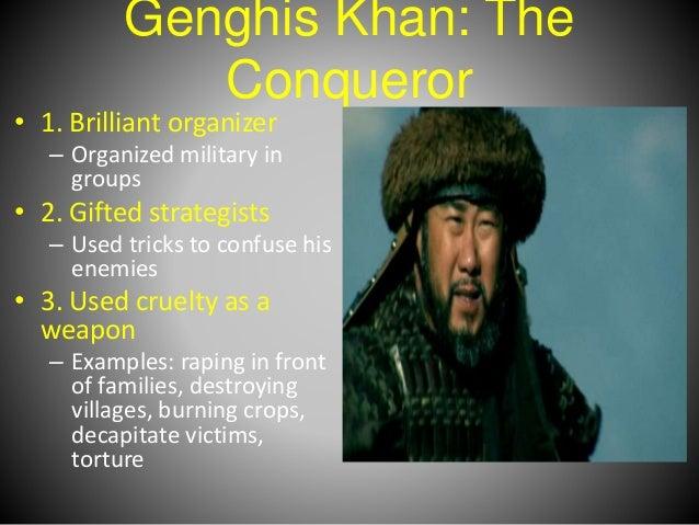 an introduction to the life of genghis khan aka temujin Genghis khan or temüjin borjigin (/ ˈ ɡ ɛ ŋ ɡ ɪ s ˈ k ɑː n, ˈ dʒ ɛ ŋ-/ mongolian: чингис хаан, çingis hán [t͡ʃʰiŋɡɪs xaːŋ] ( listen)) (also transliterated as chinggis khaan born temüjin, c 1162 – august 18, 1227) was the founder and first great khan of the mongol empire, which became the largest contiguous empire in history after his death.