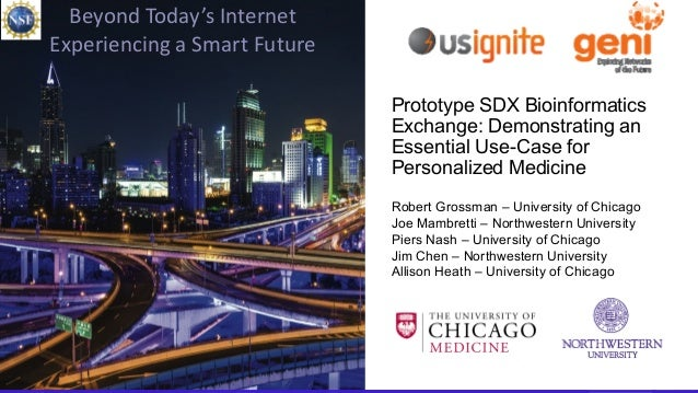 1 Beyond Today's Internet • March 25, 2015 Beyond Today's Internet Experiencing a Smart Future Prototype SDX Bioinformatic...