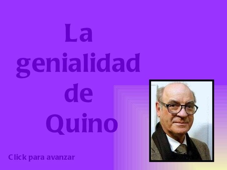 La  genialidad  de  Quino Click para avanzar