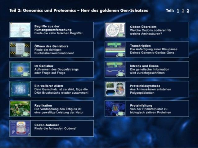 22  GENial einfach! – Genomforschung für Schüler  6. Forum Wissenschaftskommunikation 13.10.2013