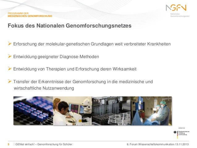 Fokus des Nationalen Genomforschungsnetzes  Erforschung der molekular-genetischen Grundlagen weit verbreiteter Krankheite...