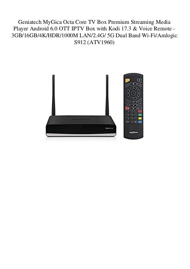 Geniatech MyGica Octa Core TV Box Premium Streaming Media