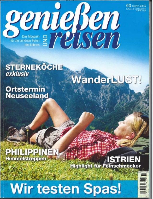 Genießen & Reisen Autumn 2015 - PAR/DIN
