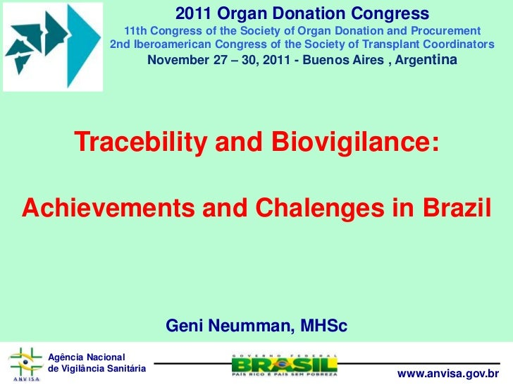2011 Organ Donation Congress                  11th Congress of the Society of Organ Donation and Procurement              ...