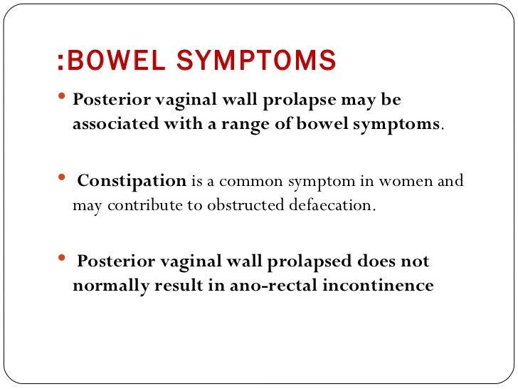 bowel interfering problem sex