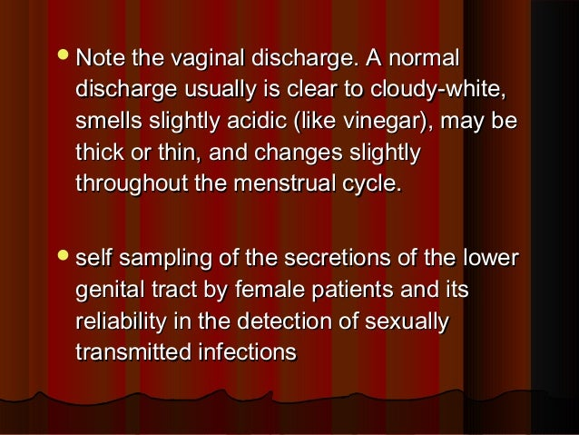 Vaginal discharge that smells like vinegar