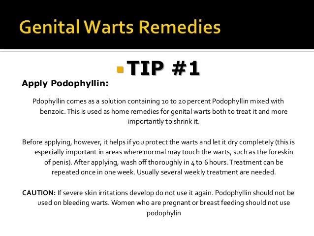 genital warts treatment at home