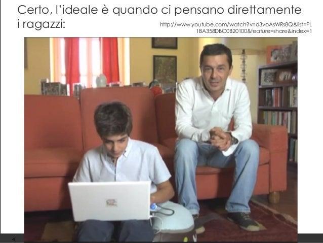 Giuliana Laurita – giulianalaurita@gmail.com Certo, l'ideale è quando ci pensano direttamente i ragazzi: 4 http://www.yout...