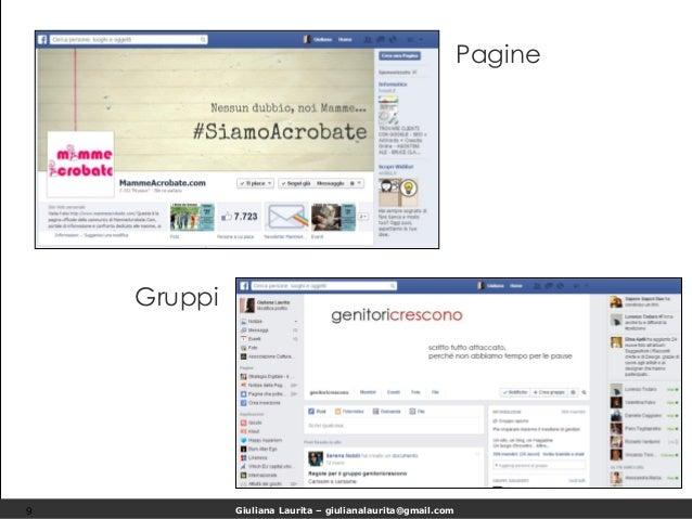 Giuliana Laurita – giulianalaurita@gmail.com Pagine 9 Gruppi