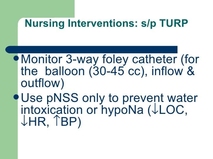 post op nursing care turp