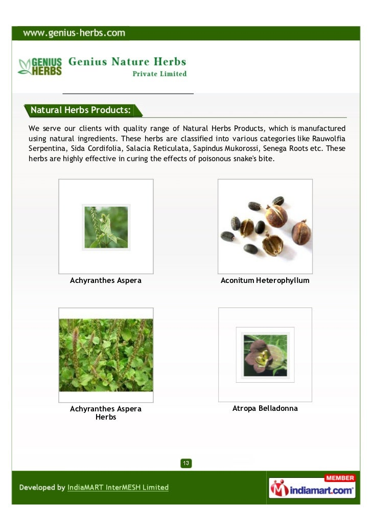 Which Of The Herbal Products Ingredients Come From Nature
