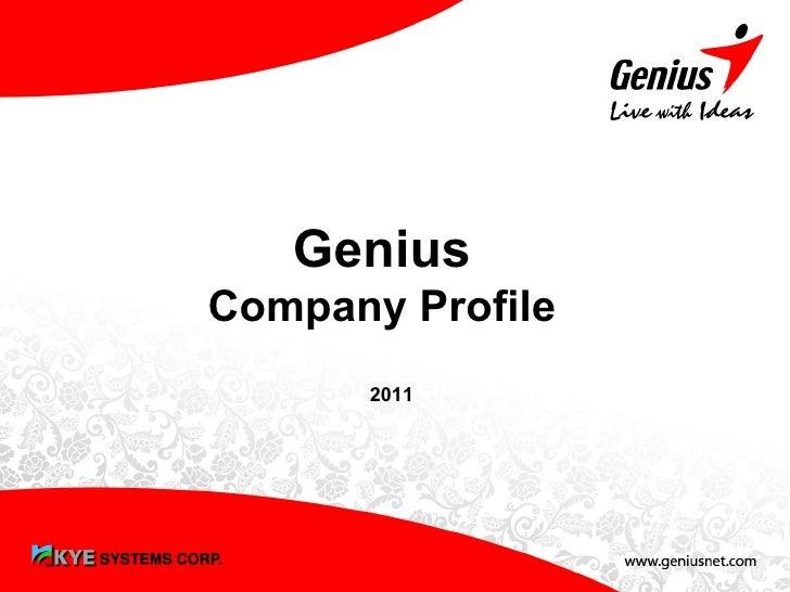 GeniusCompany Profile      2011       -1-