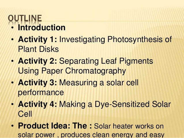 Dye Sensitized Solar Cells Solar Heater Idm8