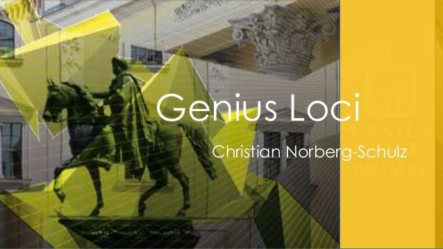 Genius Loci Christian Norberg-Schulz